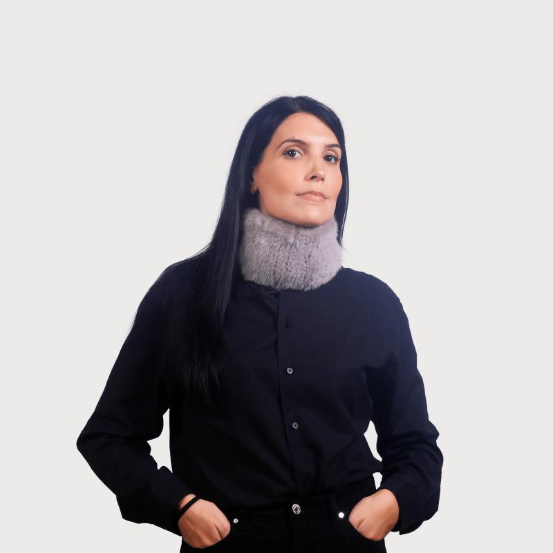 Headband vison γκρί (φυσικό χρώμα)