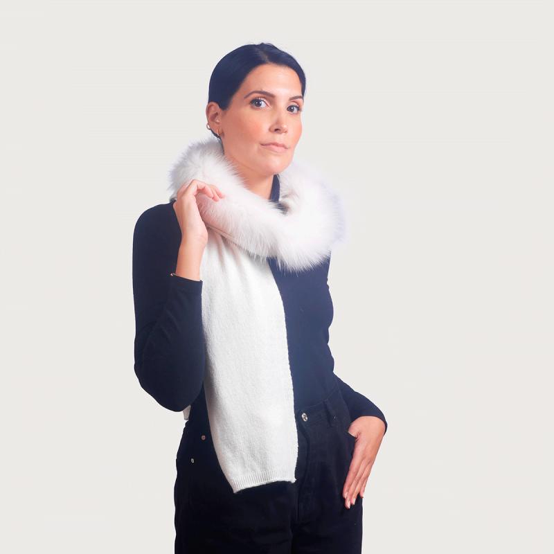 Κασκόλ cashmere / wool renard ιβουάρ