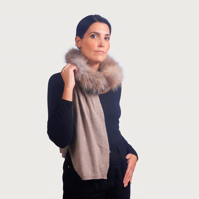 Κασκόλ cashmere / wool renard μπέζ