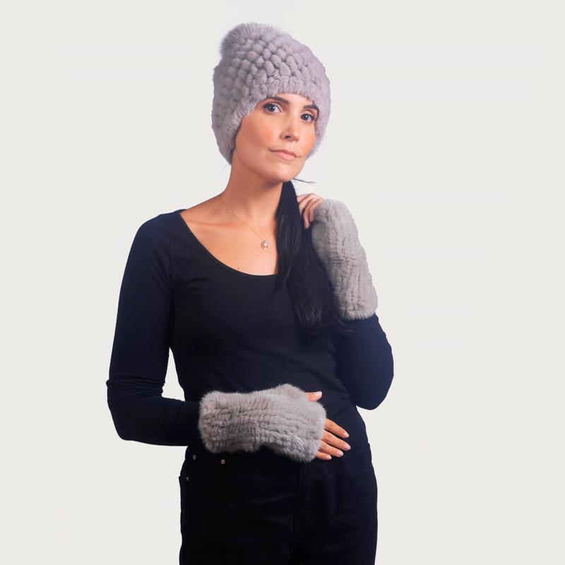 Γάντια fingerless vison
